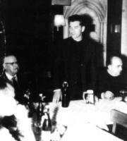 Karl Perotte, Präses Pater Albert Vetter, Pfr.Dr.Reuter (von links)