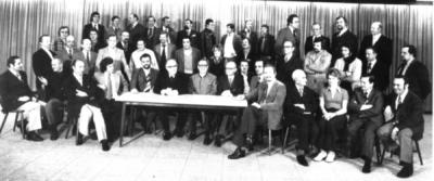25 Jahre Kolpingsfamilie Heddernheim (In der Mitte Präses Dr.Heinrich Reuter und Vorsitzender Hugo Uhl)
