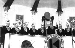 Der Elferrat mit Ministerpräsident Hans-Joachim Fischer